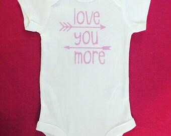 Love You More Bodysuit, Girls Bodysuit, Baby Shower Gift