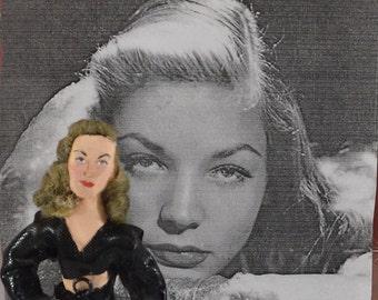 Lauren Bacall Golden Hollywood Movie Star Celebrity Doll Miniature
