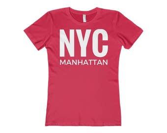 NYC New York City Manhattan   Women's T-Shirt   Red