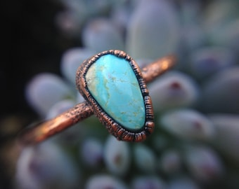 Royston   Turquoise Ring   Royston Copper Ring   Copper Ring   Electroformed Ring   Royston Ring   Ready-To-Ship