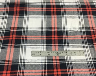 Plaid Cotton Apparel Fabric by the yard