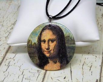 The Mona Lisa, art jewelry pendant, paint, during the Mona Lisa, the paint, jewels