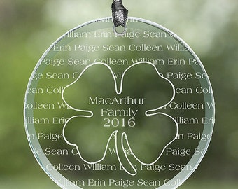 Irish Family Personalized Suncatcher