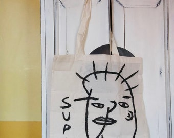 GREAT hand painted tote bag