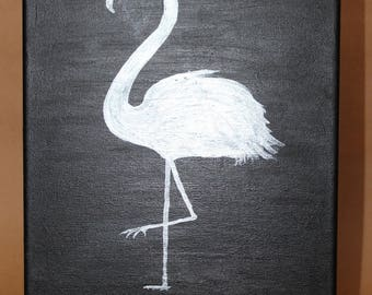 Silver flamingo