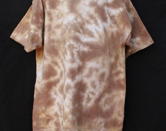 Tie Dye Shirt, Youth Small Top, Shades of Brown Scrunch Tie Dye - Ready to ship - Free Shipping