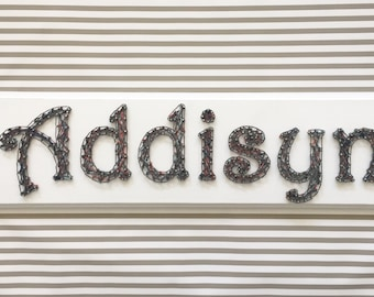 Personalized Name String Art, Name Art, Baby Gift, Nursery Decor