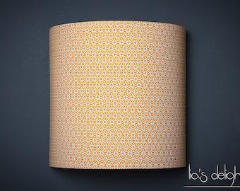 """Applique murale géométrique  jaune moutarde """"Saki"""" 20cm"""