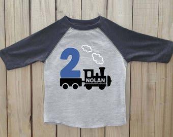 Train birthday shirt, personalized train shirt, train birthday, train birthday party, train shirt boy, boys train shirt, train party shirt