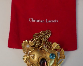 Christian Lacroix vintage Christian Lacroix vintage necklace with mirror heart mirror pendant necklace