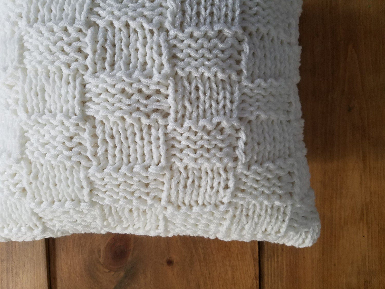 Free Basket Weave Cushion Knitting Pattern: Afghan size calculator ...
