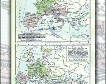 Poster, Many Sizes Available; Political Map Of Europe, Situation As Of C. 526-600