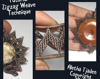 PDF TUTORIAL, Zigzag Weave Technique, step by step instructions, digital download