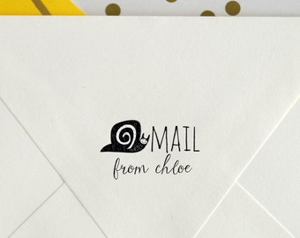 Custom Rubber Stamp   snail mail stamp   Pen pal gift   Gift for writer   mailing stamp   Self-Inking Stamp   Wood Block, No. o.16