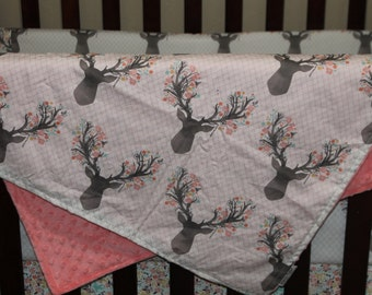 Tulip Fawn and Minky Blanket