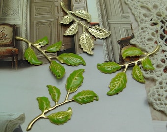 6 pcs   Handmade  Gold Plated  Branch of the  Tree Charms,20x40mm  NICKEL FREE