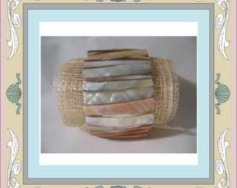 Mother of Pearl River Clam Bracelet for Beach Weddings and Brides