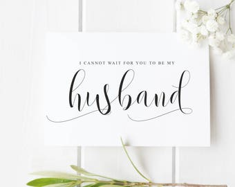 Husband wedding card Wedding Day card for new husband, husband proposal card, card from bride to groom