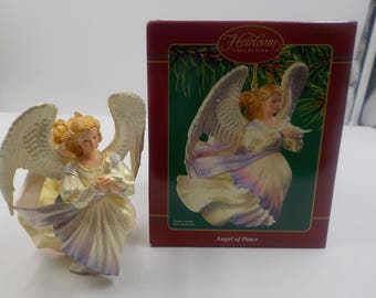 Christmas Ornament - Collectible - Angel of Peace - In Orig Box - Ceramic -  Mint Condition