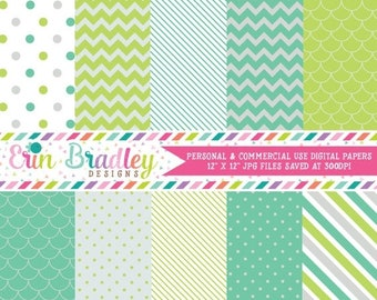 80% OFF SALE Seaglass Digital Paper Pack Commercial Use Instant Download