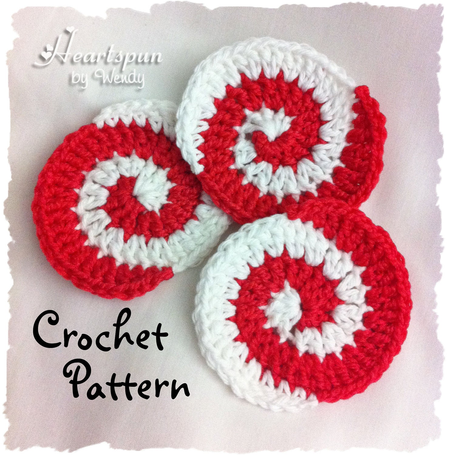Crochet pattern to make a christmas peppermint candy pinwheel zoom bankloansurffo Gallery