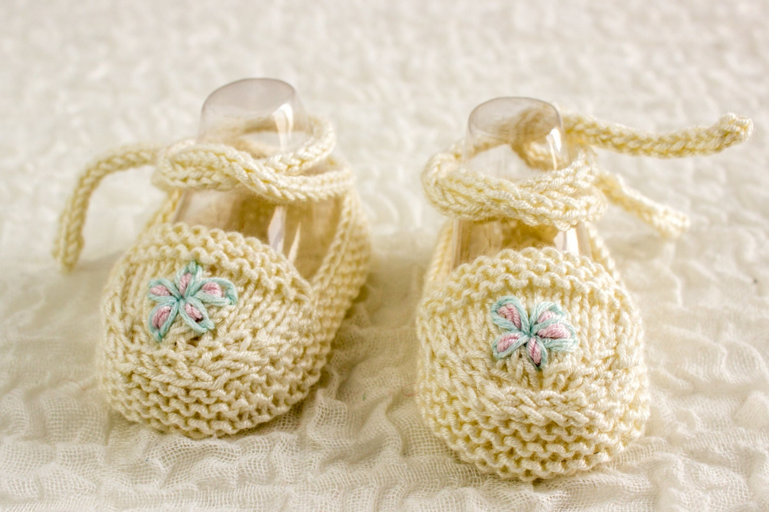 KNITTING PATTERN Baby Ballet Shoes Baby Ballet Slippers