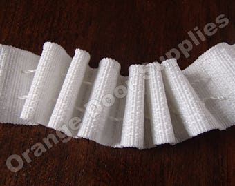 Pencil Pleat White Shirring Tape - 1 inch wide -  Drapery Supplies