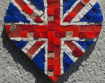 Mosaic crafts for adults take flight mosaic art kit mosaic union jack diy mosaic art kit marble murano glass mosaic tiles gift ideas for him her mosaic crafts for adults flag wall art solutioingenieria Choice Image