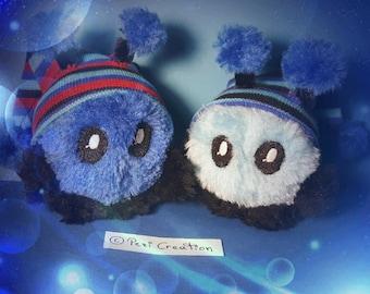 cute Mimi Plushie Fluffyball blue hood