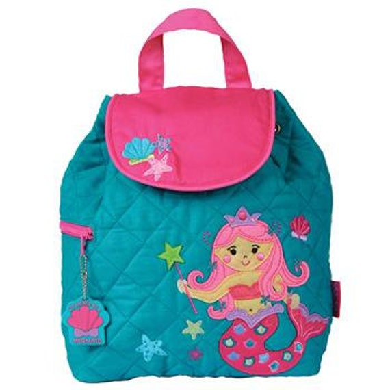 FREE PERSONALIZATION, Children's Backpack, Custom Embroidery, Monogram, Stephen Joseph, Personalized Mermaid Backpack. FREE Monogram