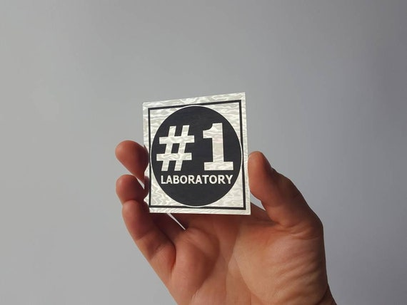 Sticker- Original Number One Laboratory Logo in Chrome