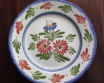 """10"""" Keraluc QUIMPER Plate Vintage"""