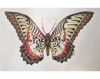 Lopsided Butterfly Print