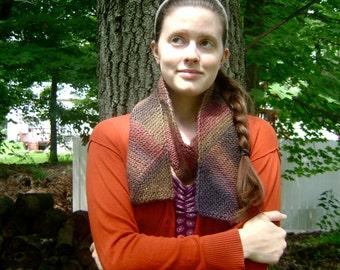 Hand Knit Wool & Soy Diagonal Scarf