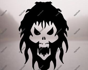 Skull Decal - Skull Sticker - Laptop Sticker - Laptop Decal - Skull Car Decal - Skull Wall Decal - Skull Wall Art - Skull Vinyl Sticker