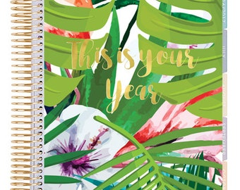 Classic Planner Cover, This is your Year, Instant Download, Disc bound Planner Cover, tropical planner Cover,Tropical Leaves, Summer Print