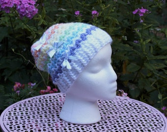 Child Sized Pastel Rainbow Beanie