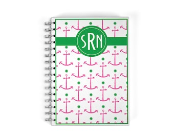 Personalized Monthly Planner Notebook - Anchor