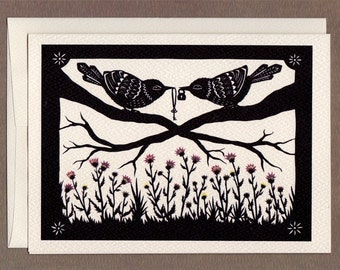 Above the Thistle Bush - Greeting Card