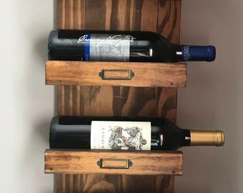 Reclaimed Wood Wine Rack - 4 Bottles