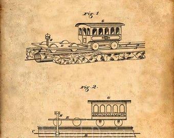Cable Street Car Patent Print - Patent Art Print - Patent Poster - Railway
