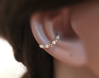 Gold conch piercing, conch earrings gold, pierced hoop earring, conch hoop, silver earring conch, conch piercing jewelry, conch ring, 軟骨ピアス