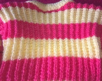 Pink/yellow sweater