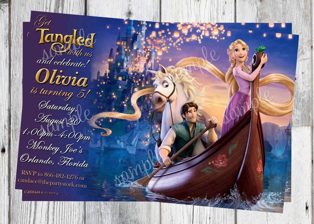 Rapunzel invitation tangled birthday invitation rapunzel zoom filmwisefo