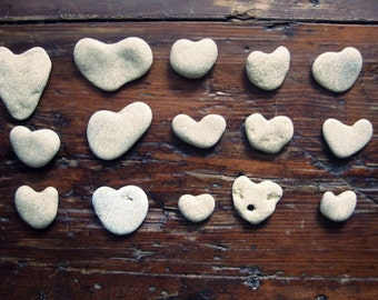 Heart Stones from the Beach - Genuine heart shaped beach stones - Beach Rocks For Sale - Natural shape of heart - Craft Supplies Beach Finds