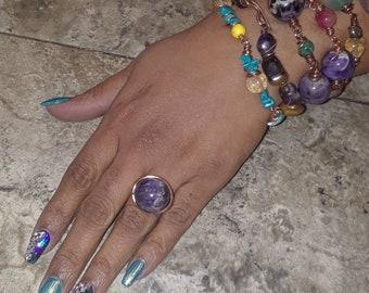 Gemstone Ring ( Amethsy)