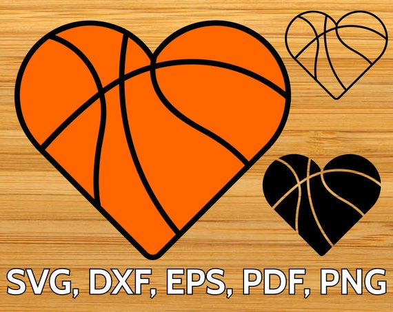basketball heart svg cut file for cricut silhouette heart shaped rh etsystudio com heart shaped basketball cookies heart shaped basketball silhouette