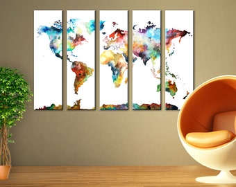 World map canvas etsy world map wall art canvas print wall decor canvas wall art large canvas art home decor gumiabroncs Gallery