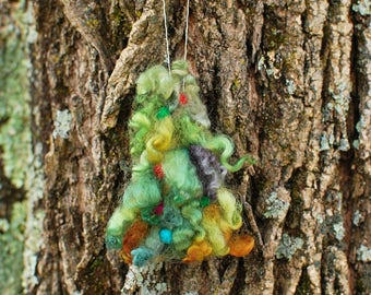 Tree, Needle Felted, Ornament, Handmade