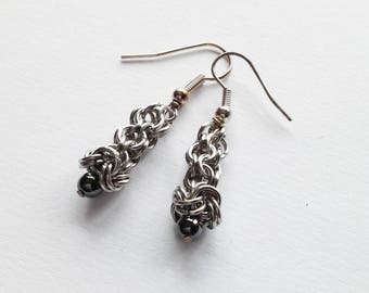 Haematite Drop Earrings